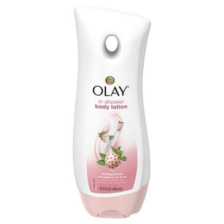 Olay Cooling White Strawberry & Mint In-Shower Body Lotion, 15.2 fl