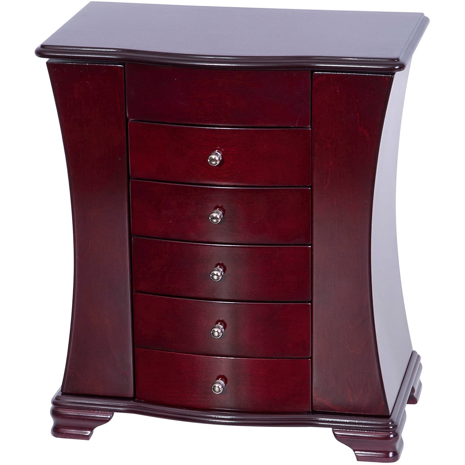 Mele Designs Vivian Wooden Jewelry Box, Cherry Finish
