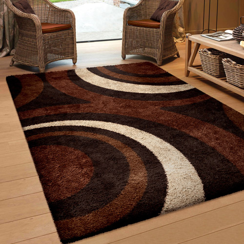 Orian Rugs Fire Hole Mocha Area Rug