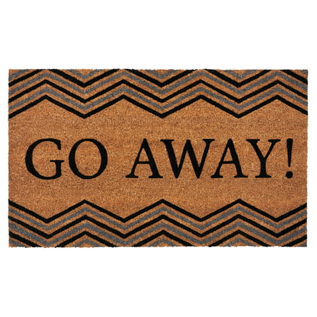 Achim Printed Coir Door Mat 18x30 - Go Away (Office Door Mat)