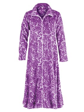 Product Image Women s Super Soft Plush Robe with Swirl Design 67d5258b0