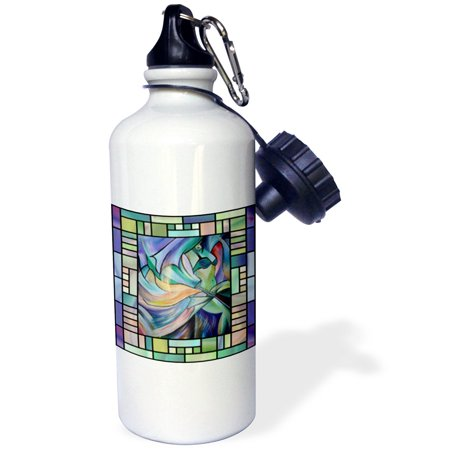 3dRose Art deco Dancer - dance, dancing, belly dance, bellydance, oriental dance, middle eastern dance, , Sports Water Bottle, 21oz
