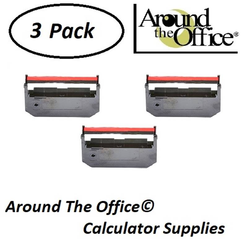 HER Model 4600 Compatible CAlculator RC-311 Black & Red Ribbon Cartridge by Around The Office