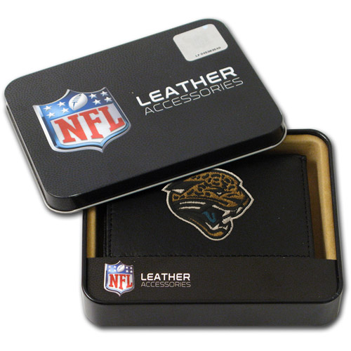 NFL - Men's Jacksonville Jaguars Embroidered Trifold Wallet