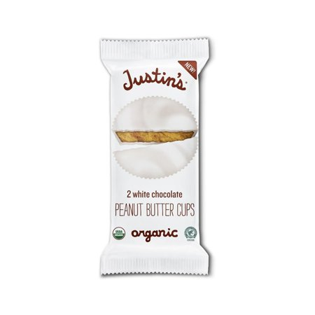 Justin's White Chocolate Organic Peanut Butter Cups, 1.4 Oz (Pack of