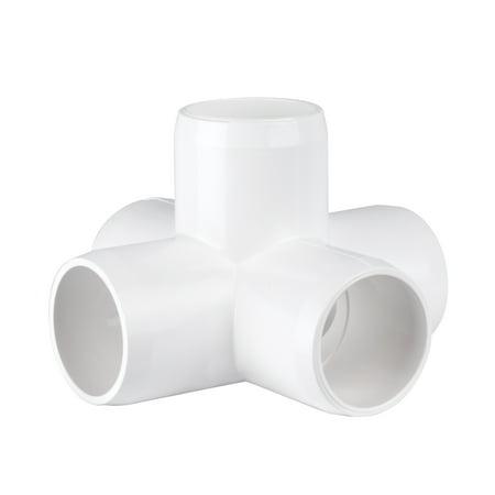 "5 way X -1"" - Furniture Grade PVC Fitting"