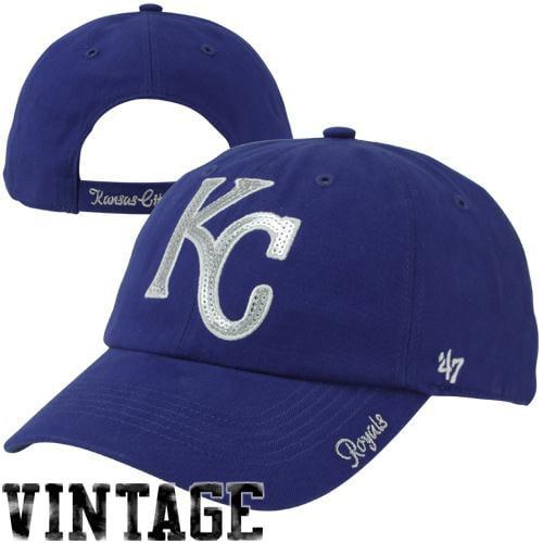 Kansas City Royals '47 Brand Women's Sparkle Slouch Hat - Royal - No Size