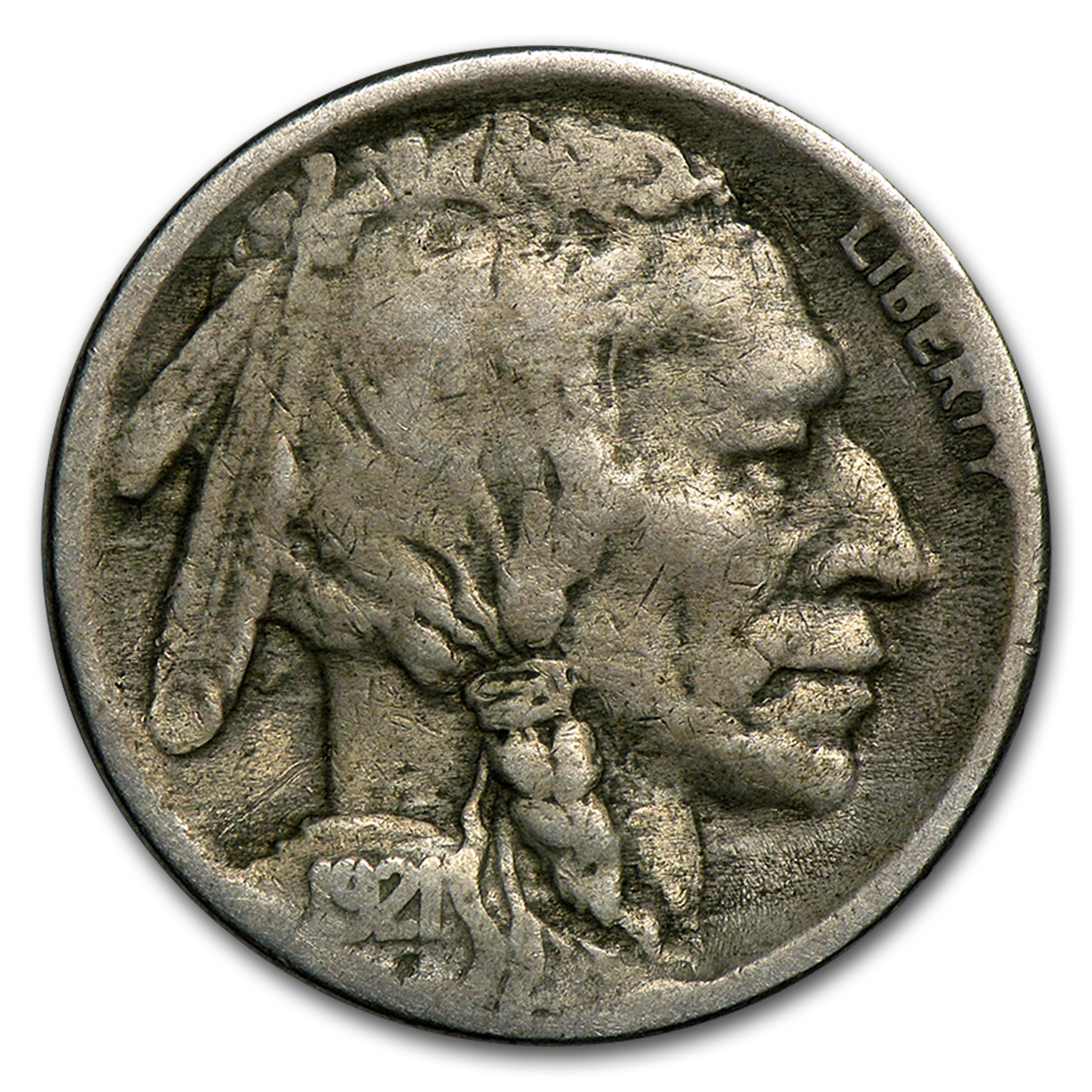 1921-S Buffalo Nickel VF