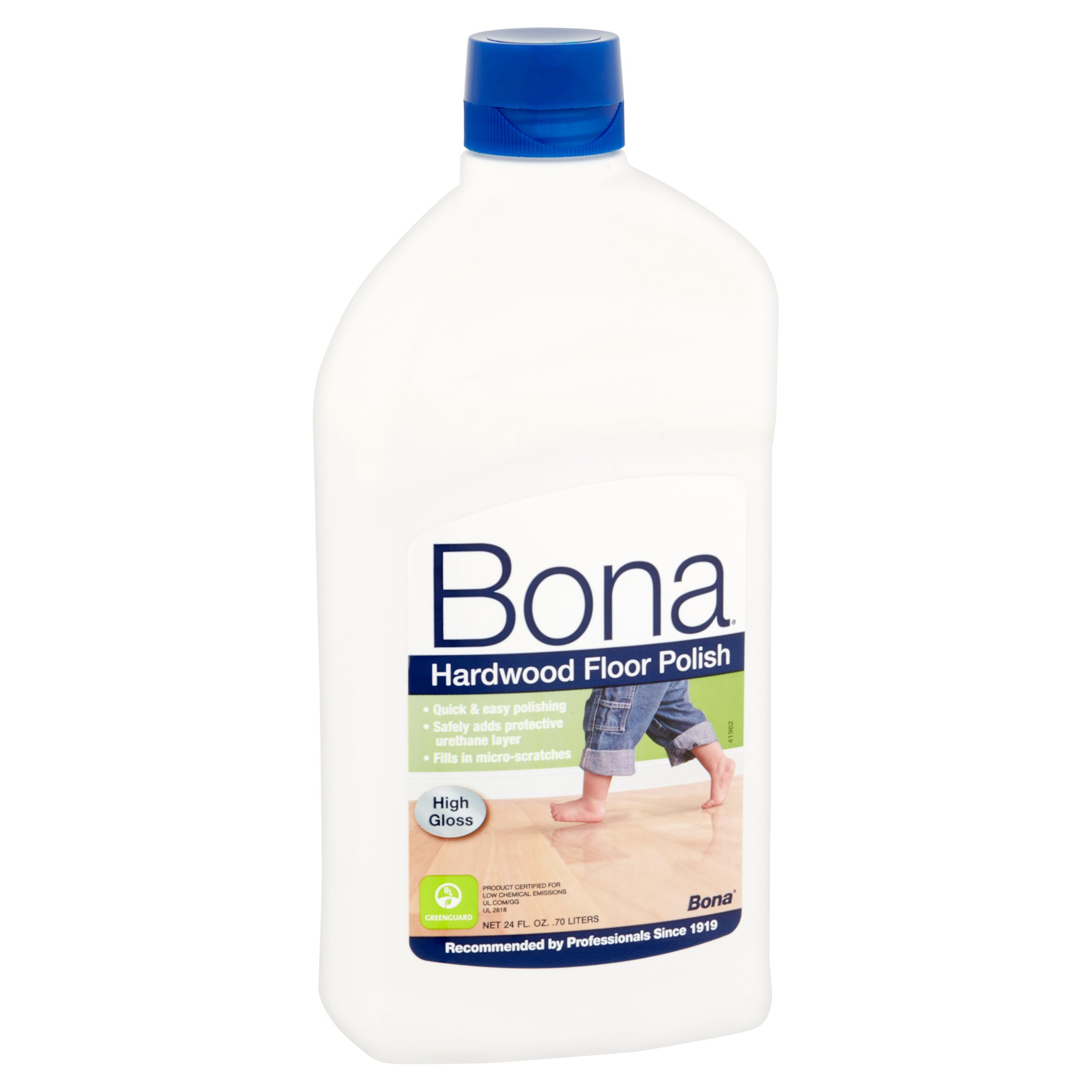 bona swedish formula high gloss hardwood floor polish, 24 oz