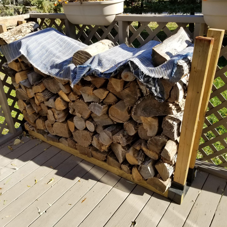 Sunnydaze Outdoor Firewood Log Rack Bracket Kit Fireplace Wood Storage Holder Adjule To Any Length Com