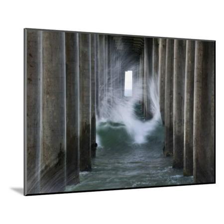 Huntington Pier 2 Wood Mounted Print Wall Art By John Gusky