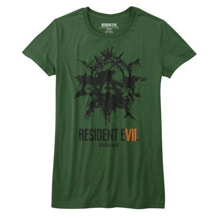 Resident Evil Talisman Olive Juniors T-Shirt Tee - image 1 of 1