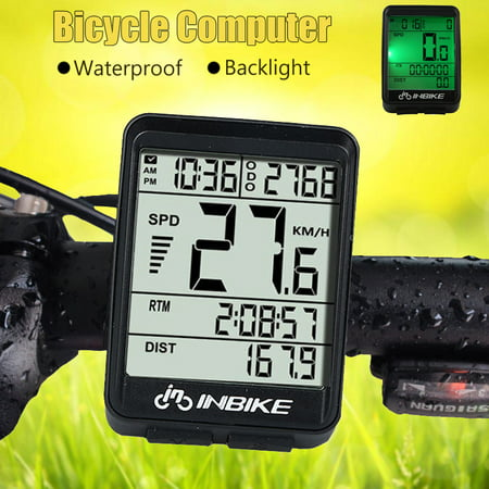 Bicycle Odometer Professional Wireless Waterproof Backlight Cycling Bike Digital Computer Speedometer LCD Stopwatch Day-Night Backlight For Outdoor Sports,Black Enduro Cycling Computer