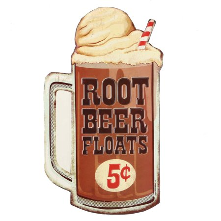 Embossed Beer (Root Beer Float Embossed Metal Sign)