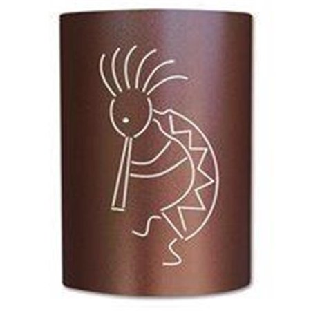Slip On Sconce KO-CC-004 Copper Canyon Kokopelli Sconce. Jelly jar light fixture included ()