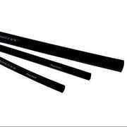 RAYCHEM CPGI-TAT-125-3/16-BK-STK Shrink Tubing,0.187in ID,Black,4ft,PK25