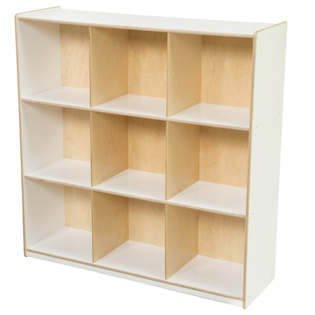 Wood Designs 50900WHT 9 Big Cubby Storage, White