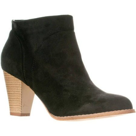 Women's Chloe Chunky Heel Faux Suede Ankle Bootie Boots