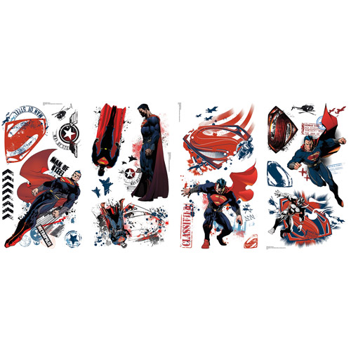 Superman Man of Steel Peel-and-Stick Wall Decals