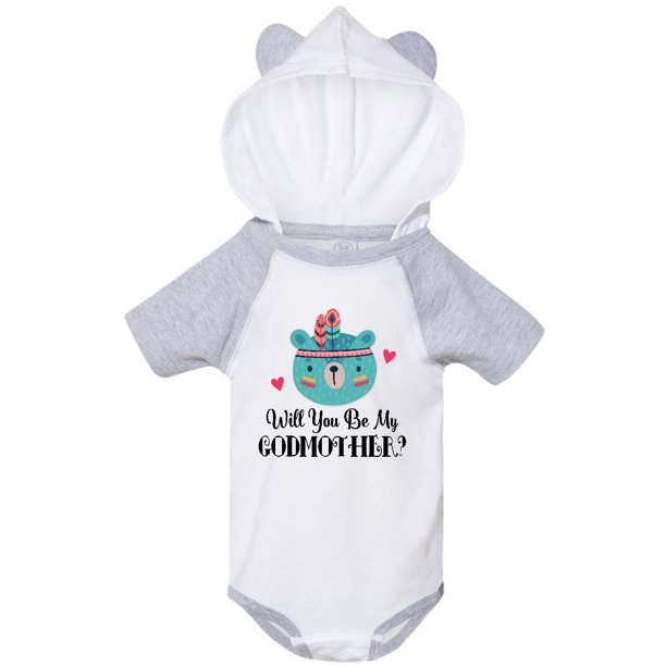 Godmother Proposal Baby Bear Infant Creeper