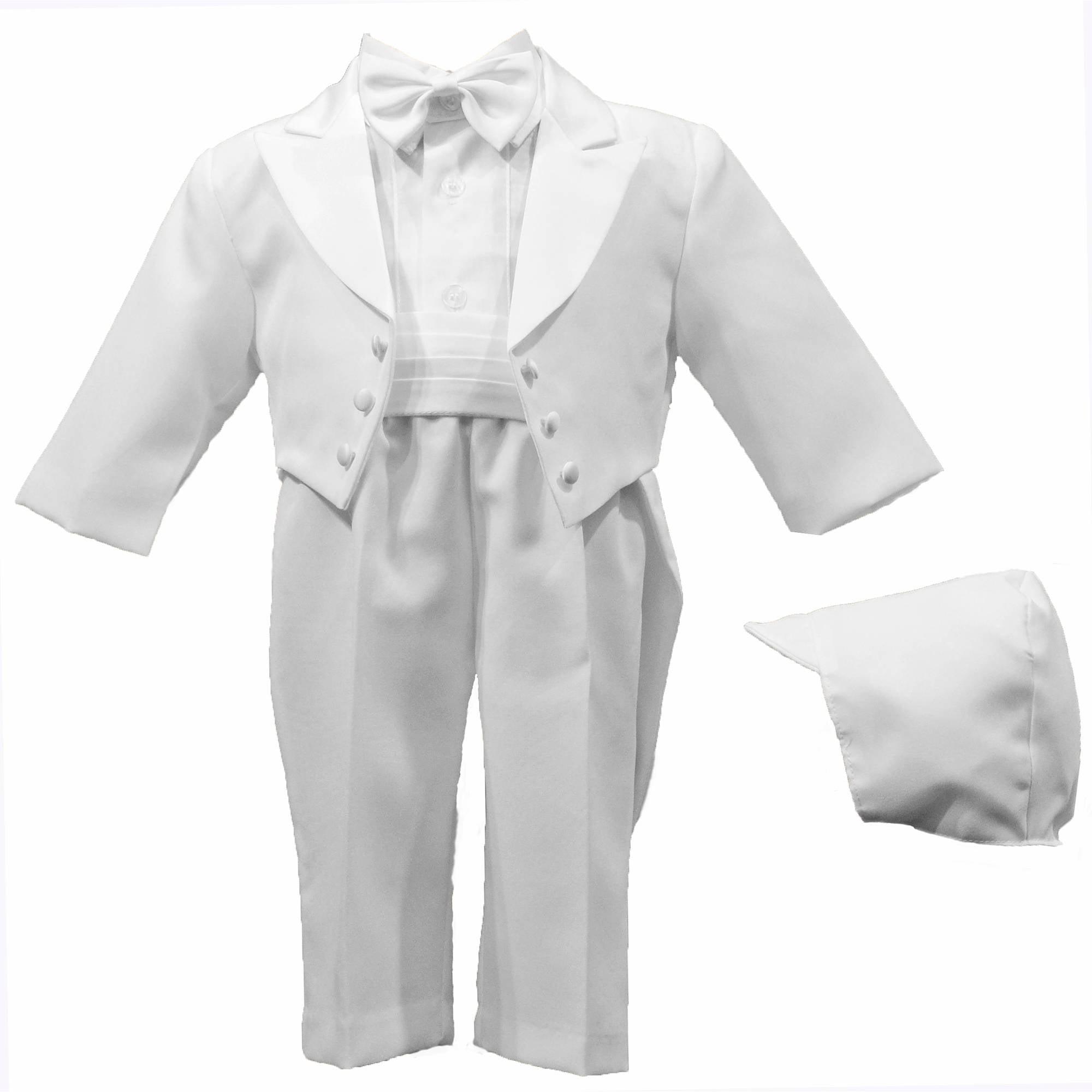 d158e1e41 Sophias Style - Baby Boys White Cotton Cross Applique Christening ...