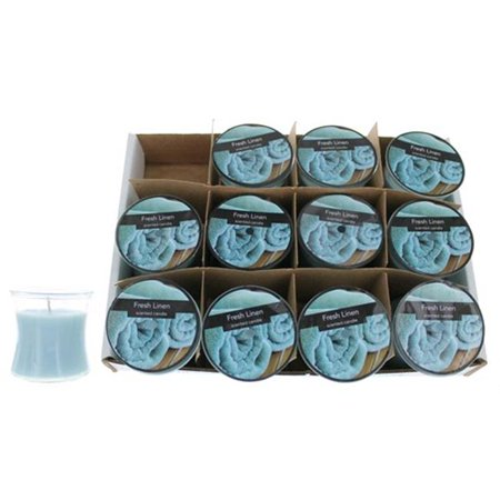 Candle c25hgfl Fresh Linen 2. 5 Oz. Hour Glass, 12 Pack