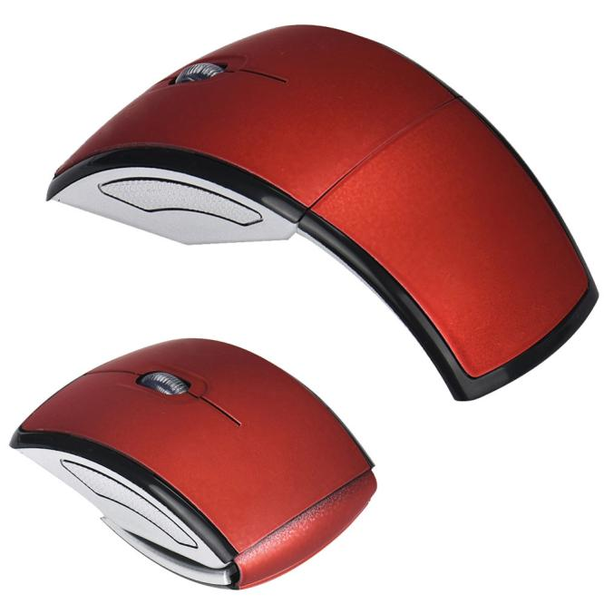 New Fashion 2.4G Wireless Foldable Folding Optical Mouse for Microsoft Laptop Notebook