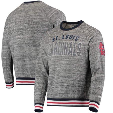 release date: c631b b9dd9 St. Louis Cardinals New Era French Terry Sweatshirt - Steel/Navy