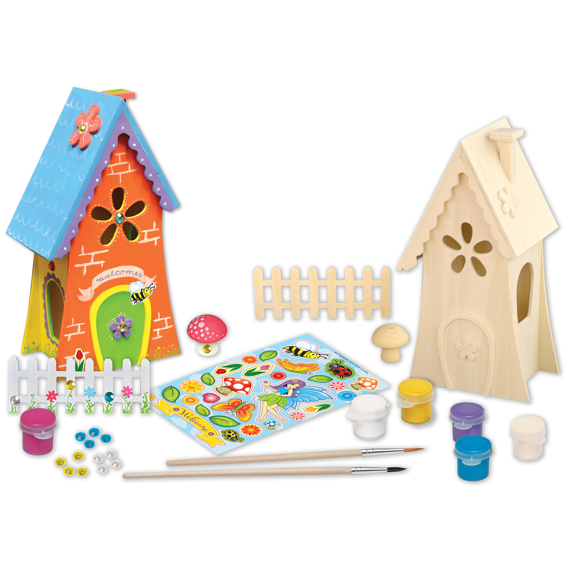 MasterPieces Works of Ahhh Wood Fairy Garden Deluxe Paint Kit, 1 Each by MasterPieces