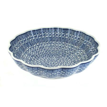 Polish Pottery Olympia Large Scallop Bowl (Olympian Bowl)