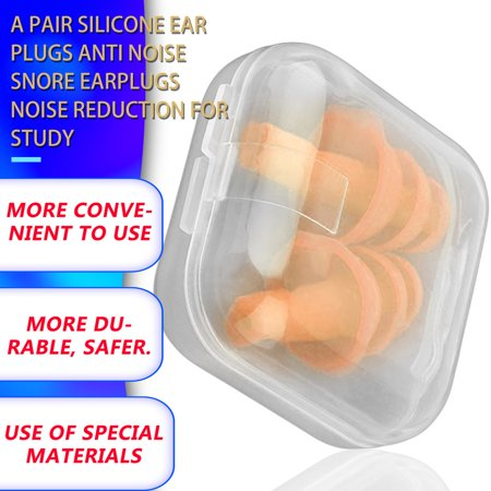 A Pair Silicone Ear Plugs Anti Noise Snore Earplugs Noise Reduction for Study - image 10 de 11