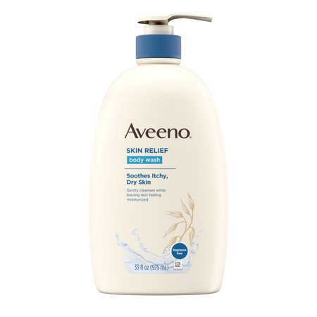 Aveeno Skin Relief Fragrance-Free Body Wash for Dry Skin, 33 fl. oz
