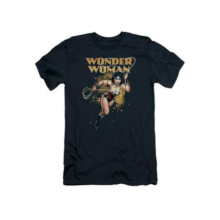DC Comics Wonder Woman Lassoed Title Adult Slim Fit T-Shirt Tee