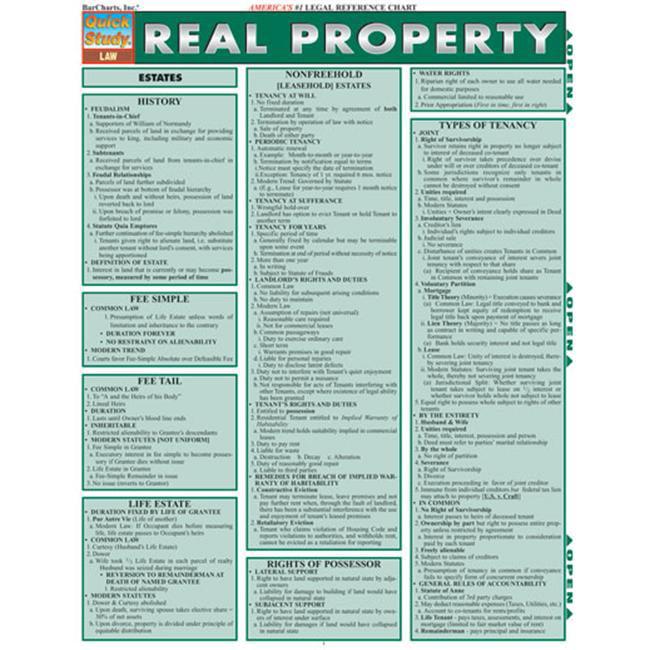 BarCharts- Inc.  9781572228344 Real Property