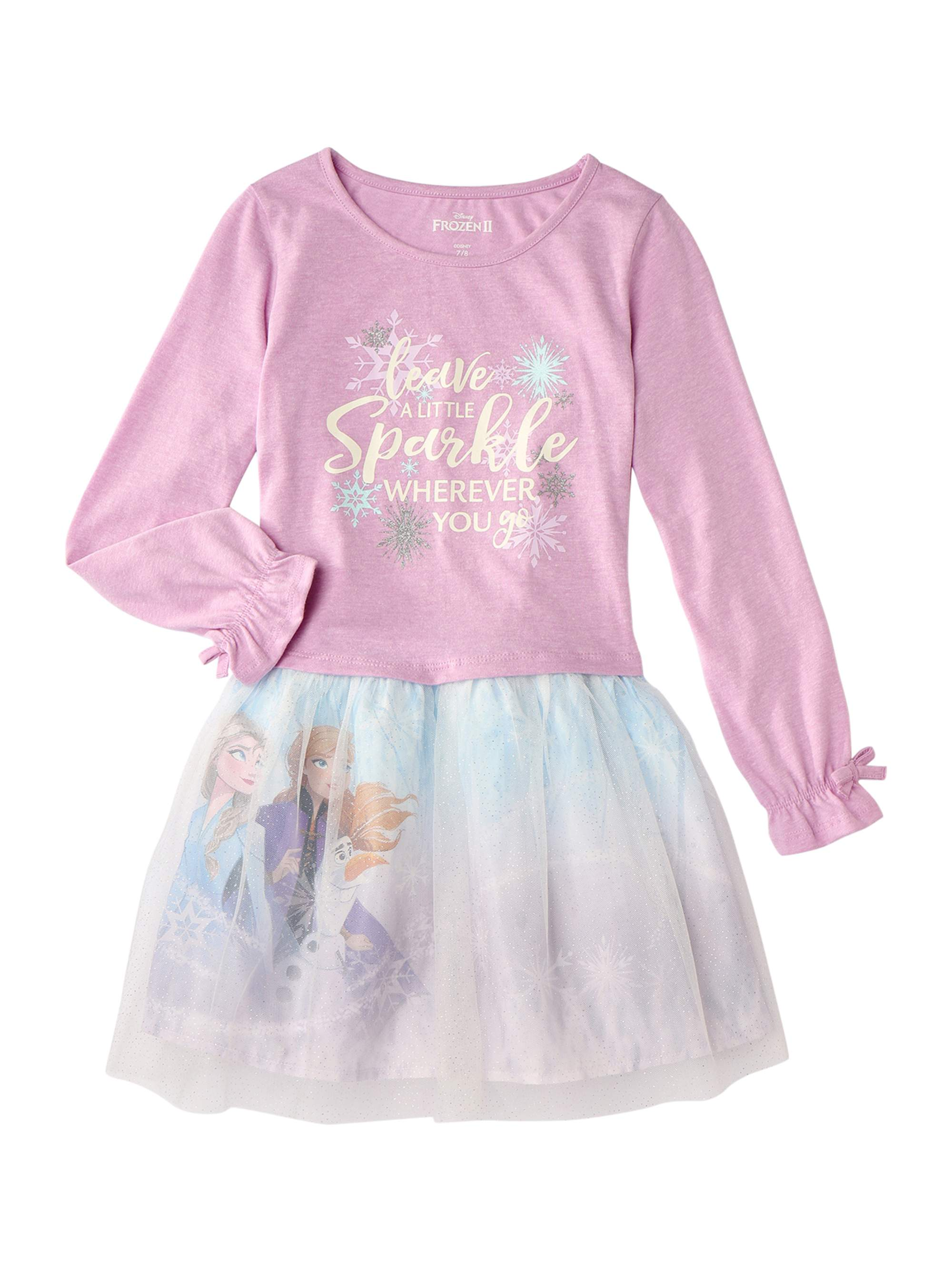 Make Your Own Magic Disney Frozen Elsa /& Anna Fleece Pajama Set Long Sleeve 8