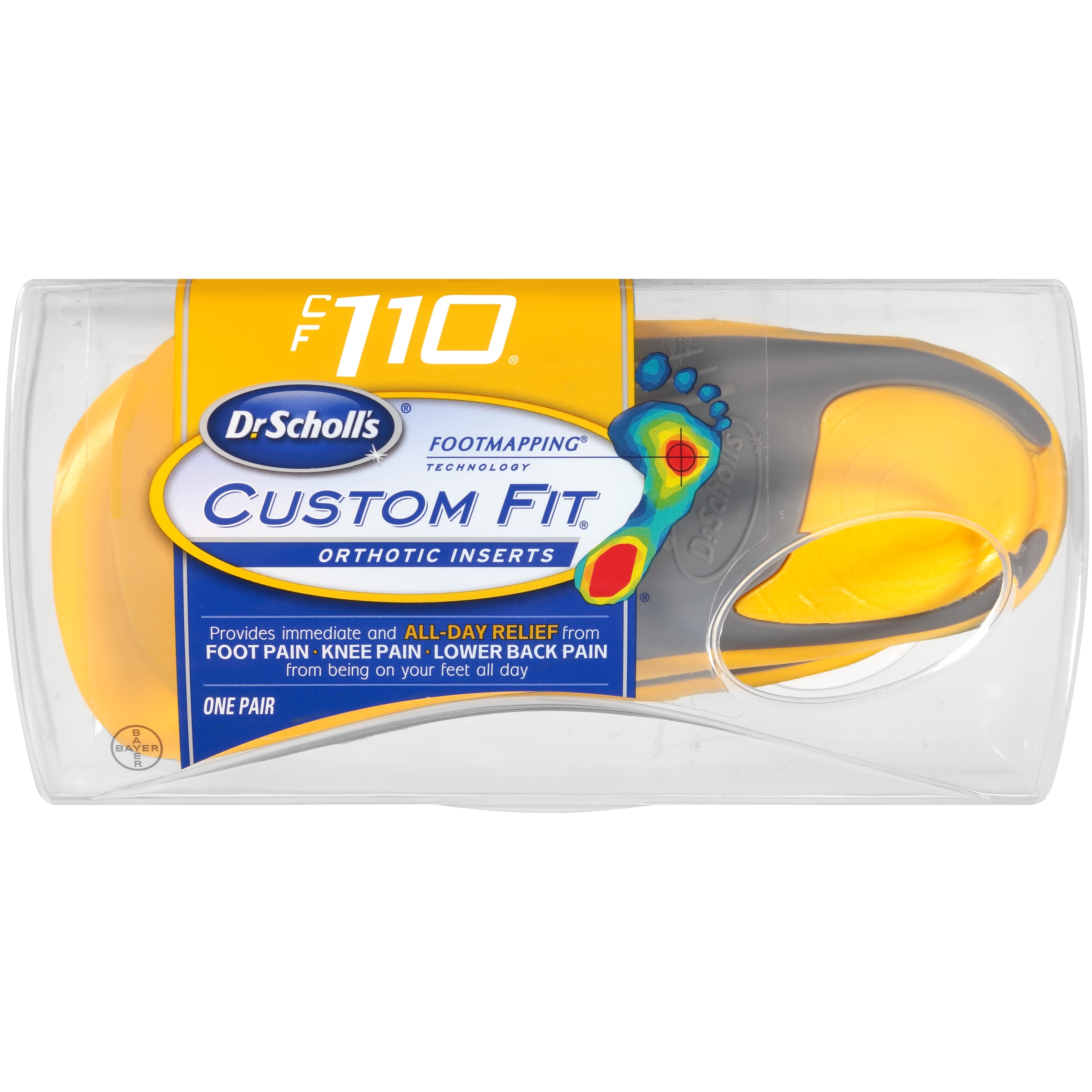 Dr. Scholl's® Custom Fit® Orthotic Inserts CF110, 1 Pair
