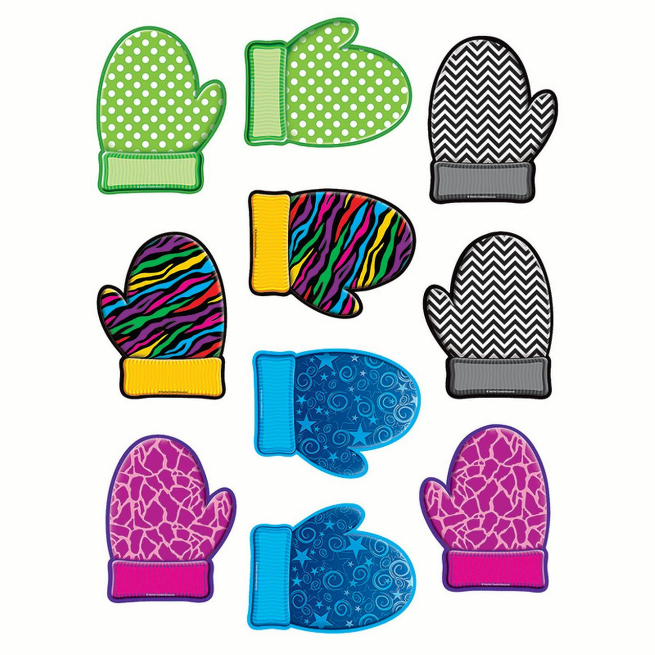 MITTENS ACCENTS 30CT 10 DESIGNS