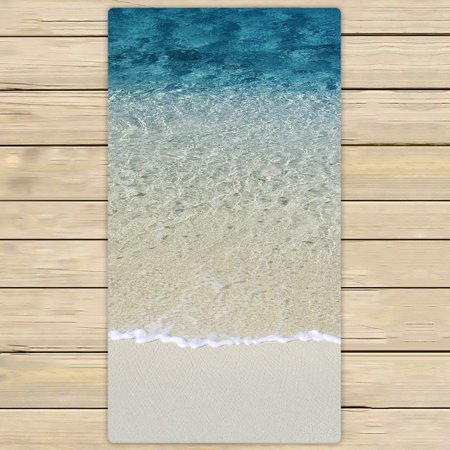 Gckg Beach Clear Sea Sand Ocean Hand Towel Spa Bath Towels Bathroom Body Shower Wrap Size 30x56 Inches
