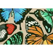 Trans-Ocean Rug Frontporch Butterfly Dance Neutral Indoor/Outdoor Area Rug