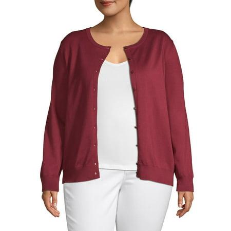 Heart & Crush Women's Plus Size Button Front Cardigan