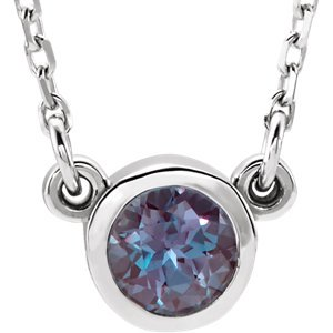 Jewels By Lux Sterling Silver Imitation Alexandrite 16