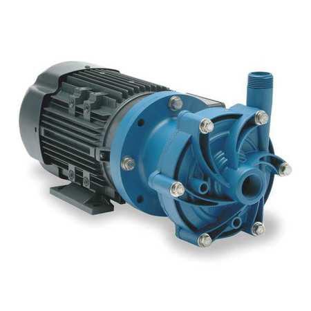 "FINISH THOMPSON 3/4 HP PP Magnetic Drive Pump 208-230/460V 1"" FNPT, DB9P-M205"