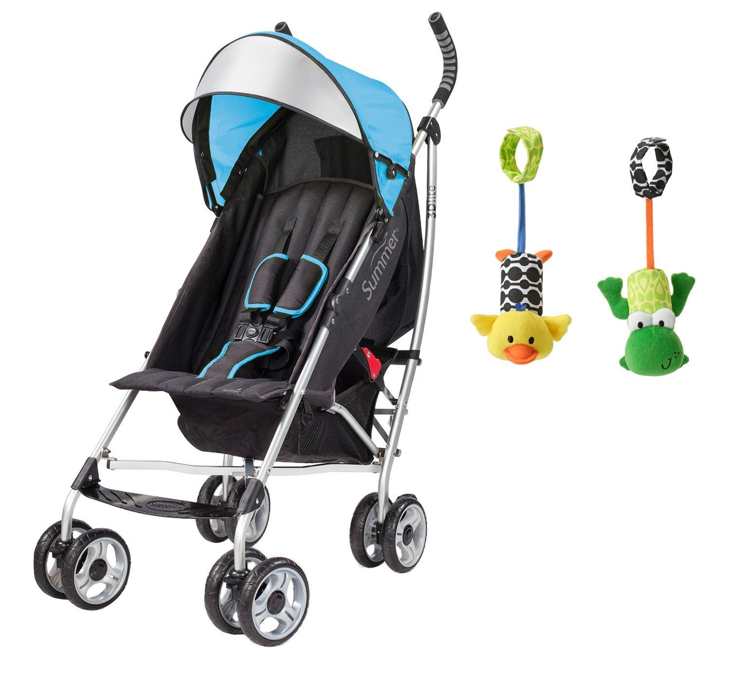 Summer Infant 3D Lite Convenience Stroller with Take Along Chimes, Blue