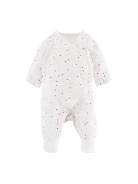 Under the Nile Muslin Side Snap Kimono Pink Starry Night Print - Preemie