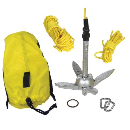Kayak Fishing Anchor Kit, This Item Includes: Anchor, Line, 2-Carabiners, Ring, Storage Bag By Seattle Sports