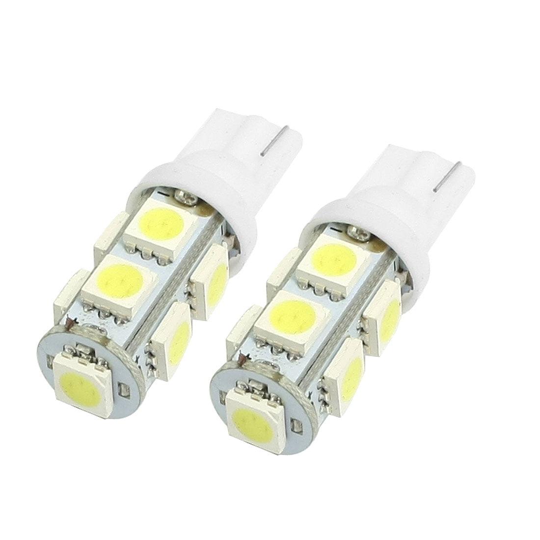 Unique Bargains 2 Pcs T10 194 168 W5W 5050 9-SMD LED Car Wedge Light Bulb Lamp White