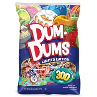 Dum Dums Limited Edition Lollipops, 300 Count Bag