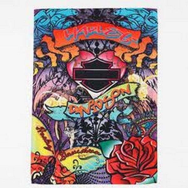 "Harley Davidson Graffiti Hers Decorative Estate Size Flag (30"" x 43"")"