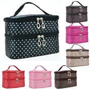 Fashion Women Travel Zipper Closure Cosmetic Makeup Bag Case SMT by