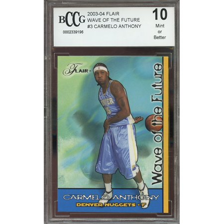 2003 04 Flair Wave Of The Future  3 Carmelo Anthony Nuggets Rookie Bgs Bccg 10